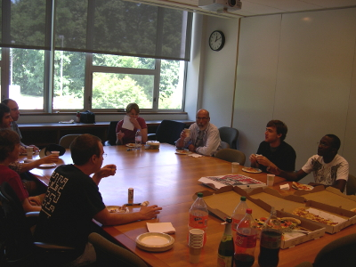 lunch pizza meeting